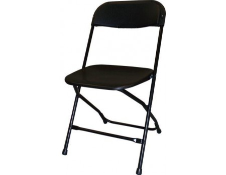 Black Vinyl Folder Chairs Rent A Bounce