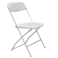 Wedding White Vinyl Folding Chairs Rent A Bounce